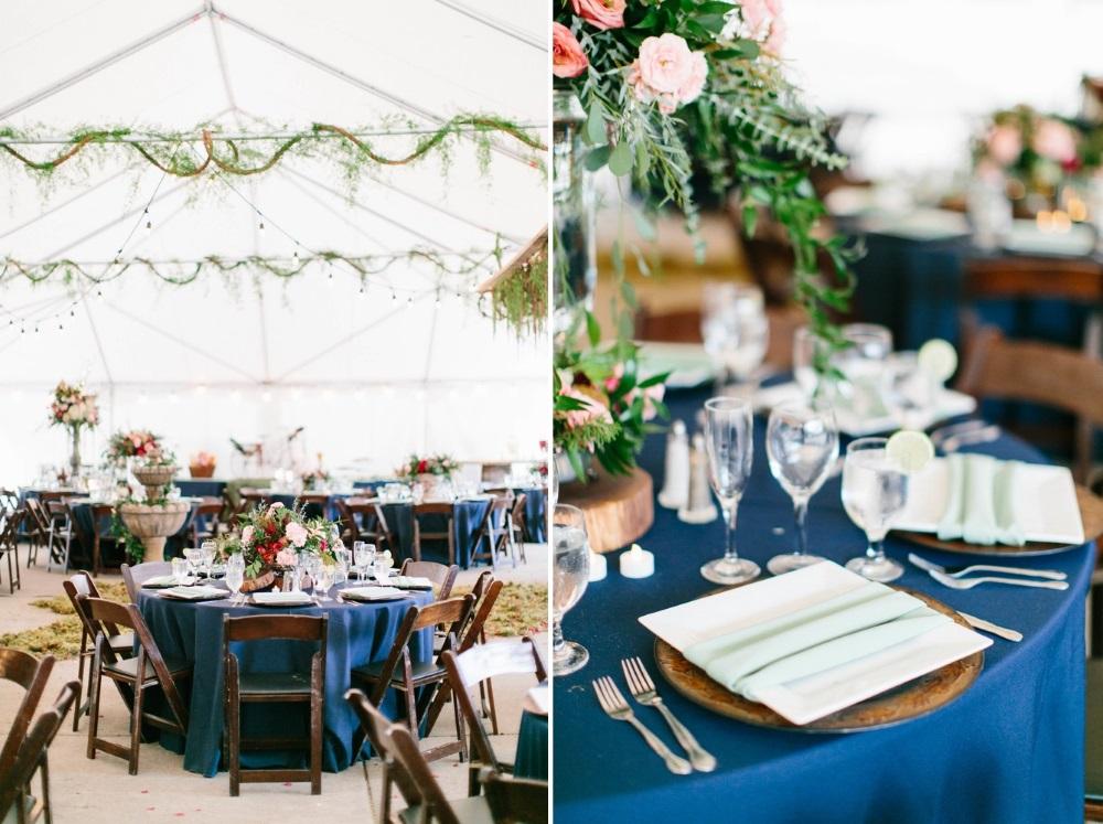 Romantic Jewel Toned Wedding Tablescapes // Photography ~ Maria Lamb