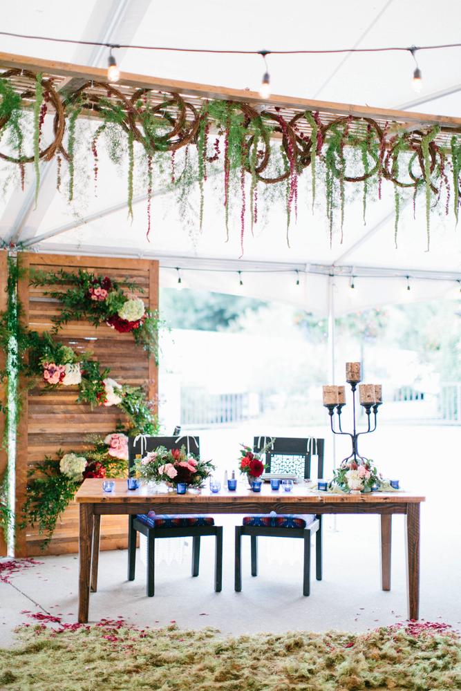 Romantic Wedding Sweetheart Table // Photography ~ Maria Lamb