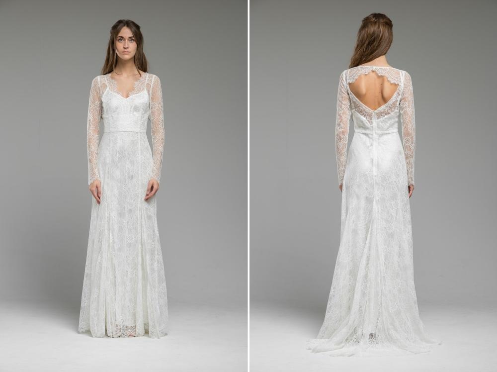 Long Sleeved Lace Wedding Dress 'Isla' from Katya Katya Shehurina