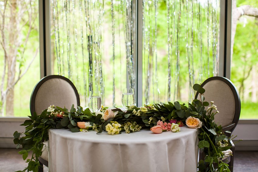 Wedding Sweetheart Table // Photography ~ Mike Reed Photo