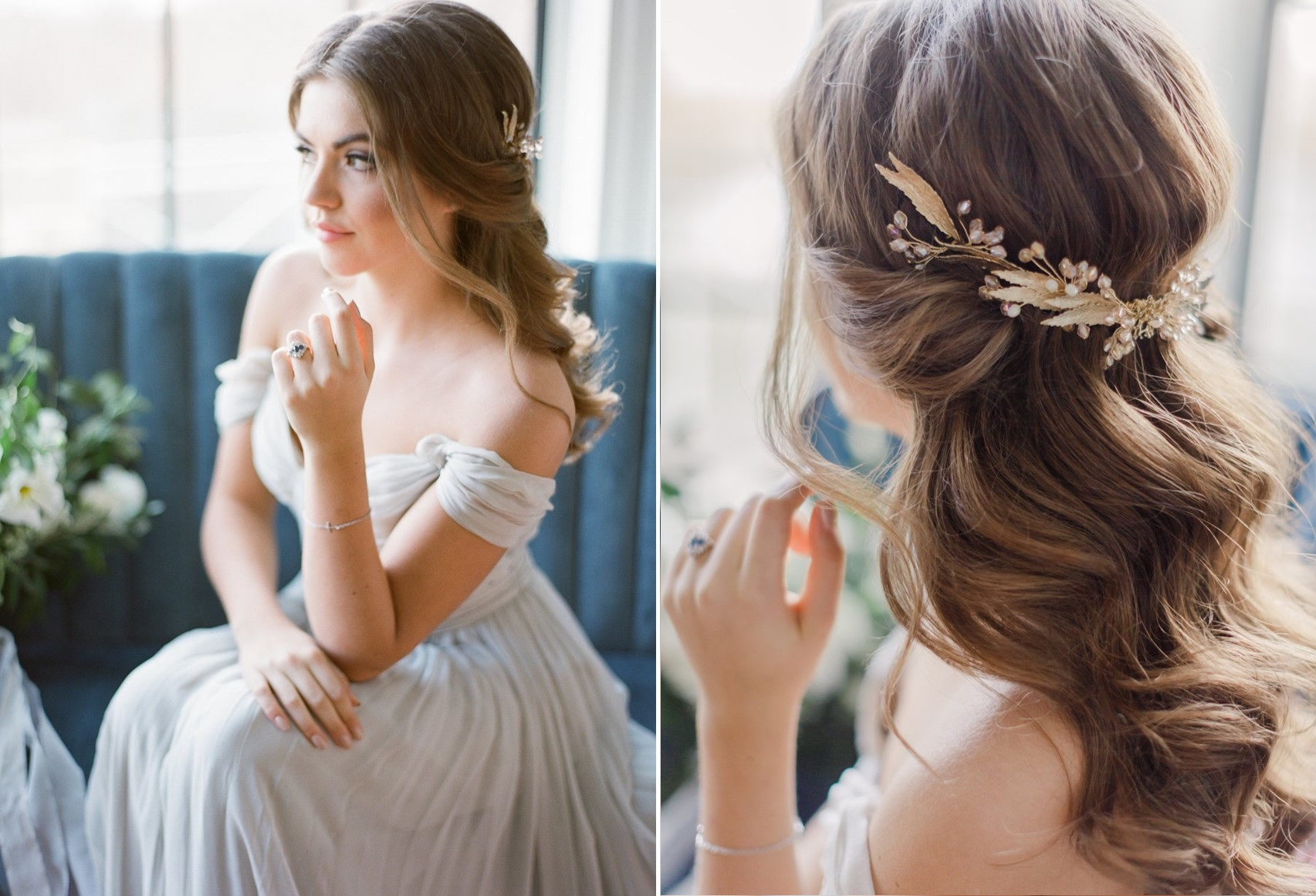 Modern Vintage Ethereal Bridal Updo // Photography ~ Artiese Studios