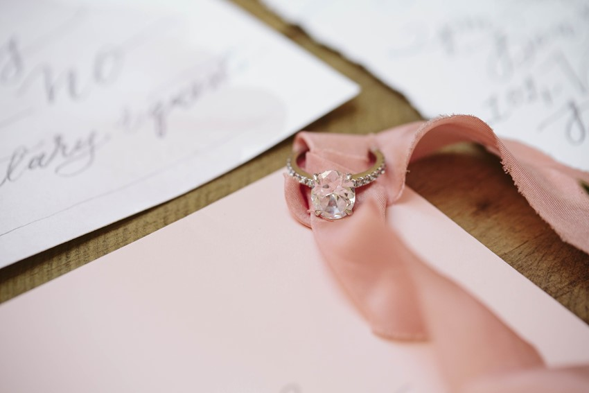Stunning Diamond Engagament Ring // Photography ~ White Images