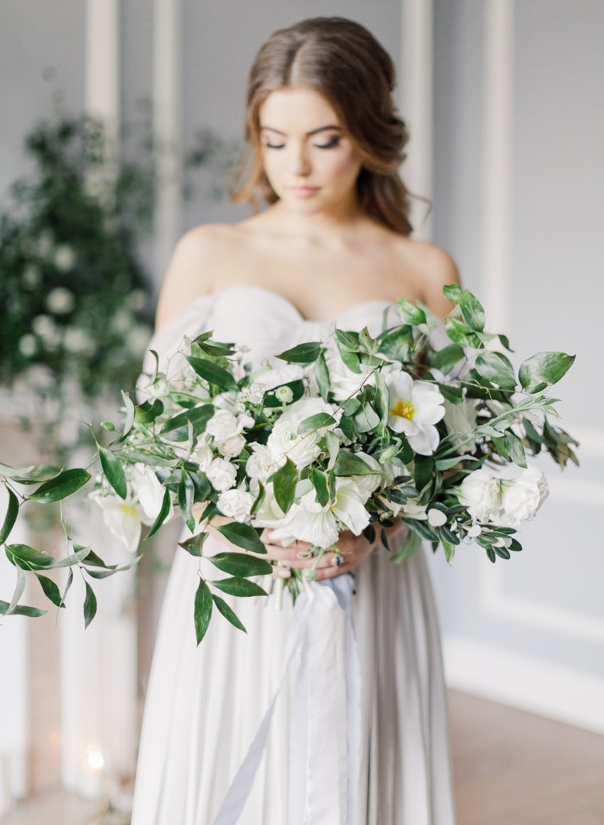 Modern Vintage Bridal Bouquet // Photography ~ Artiese Studios