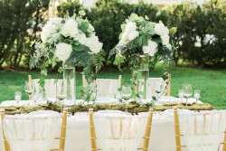 White & Green Wedding Tablescape // Photography ~ Sharmila Photography