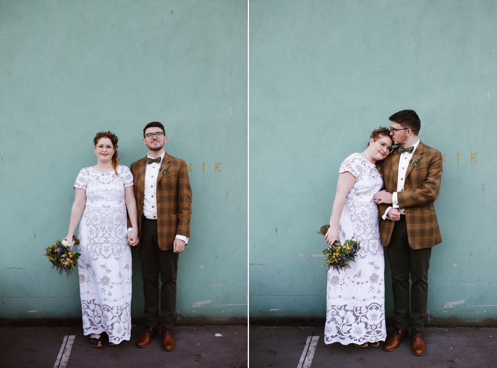 Boho Vintage Bride & Groom