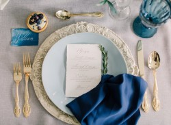Heavenly Serenity Blue Wedding Place Setting // Photography ~ Artiese Studios