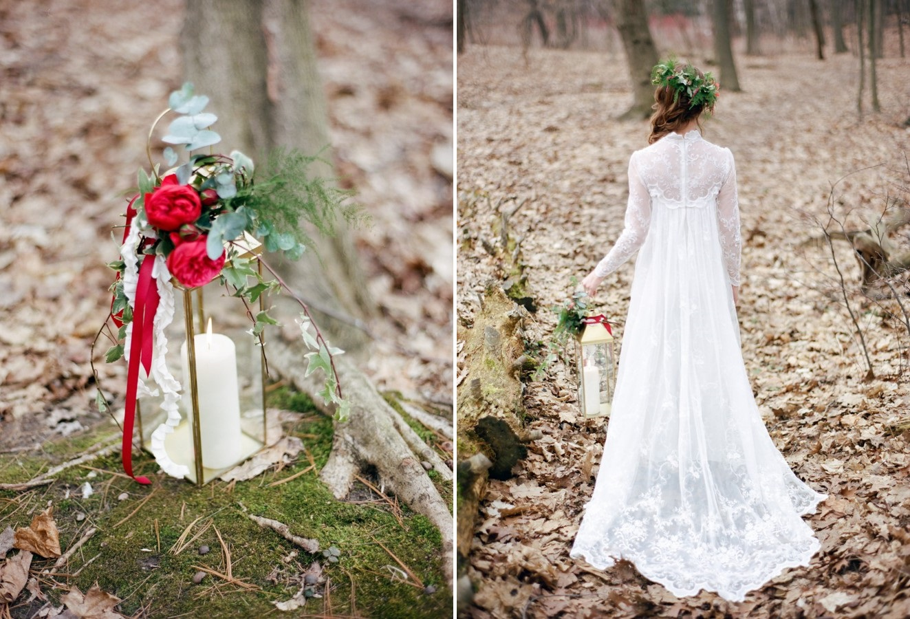 Romantic Woodland Wedding Dress // Photography ~ Kurtz Orpia Photography