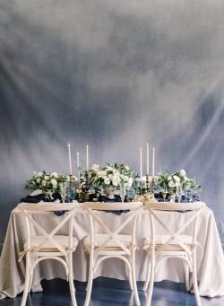 Romantic Modern Vintage Serenity Blue Wedding Tablescape // Photography ~ Artiese Studios