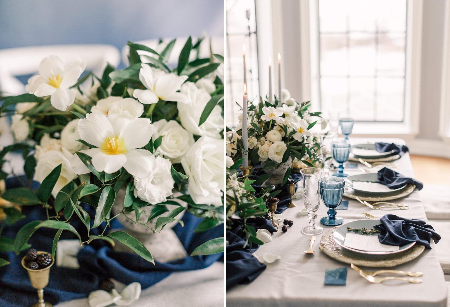 Romantic Modern Vintage Floral Centrepiece // Photography ~ Artiese Studios