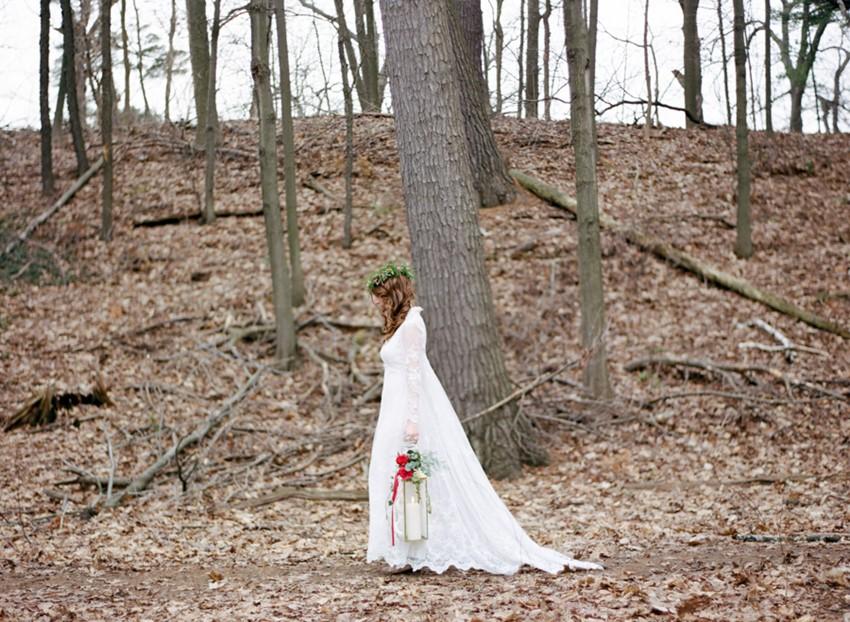 Romantic Woodland Bride // Photography ~ Kurtz Orpia Photography