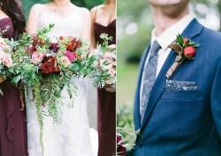 Bouquet & Boutonniere // Photography ~ Maria Lamb