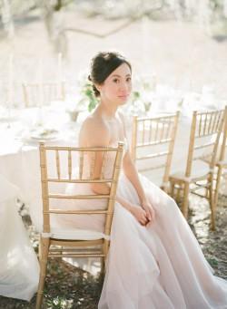 Romantic Blush Wedding Dress // Photography ~ The Happy Bloom