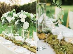 Moss Garden Wedding Table Runner // Photography ~ Sharmila Photography