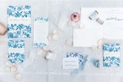 Elegant Blue Wedding Invitation Suite // Photography ~ Chymo More