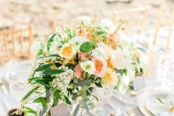 Romantic Blush Wedding Centrepiece // Photography ~ The Happy Bloom
