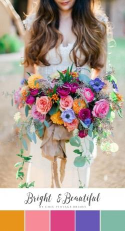 Bright Beautiful Summer Wedding Colour Palette