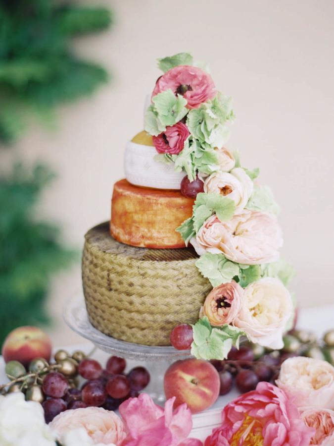 Cheese Tower Wedding Cake Alternative