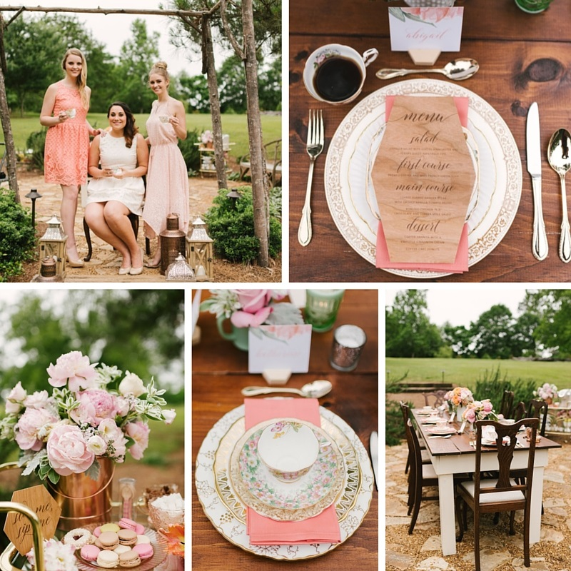 Chic Coffee Loving Garden Bridal Shower Ideas Chic