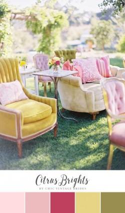 Citrus Brights Summer Wedding Colour Palette