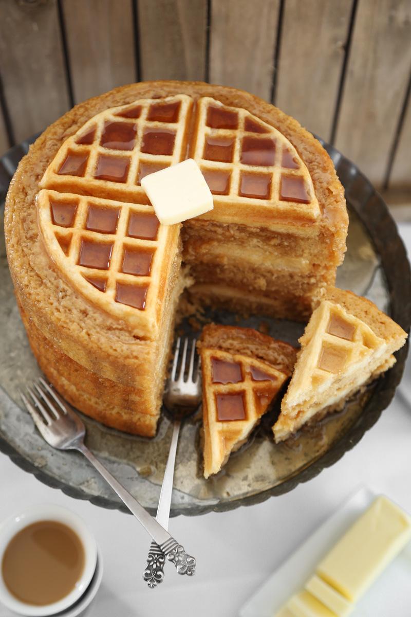 Belgian Waffle Wedding Cake