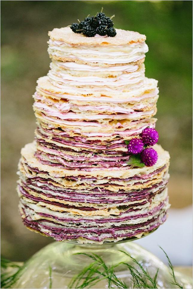 Ombre Crepe Wedding Cake