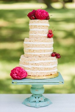 Rice Krispies Cake - Wedding Cake Alternative