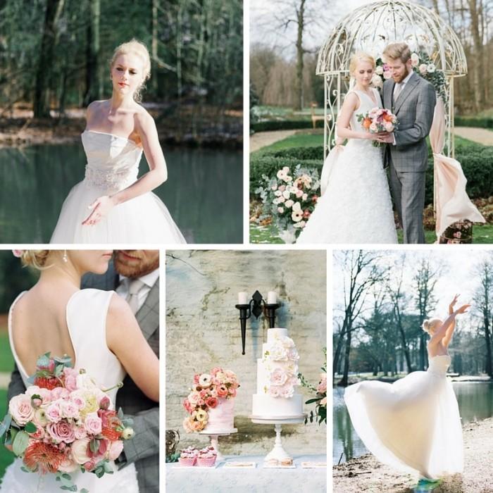 Romantic Swan Lake Inspired Wedding Styled Shoot