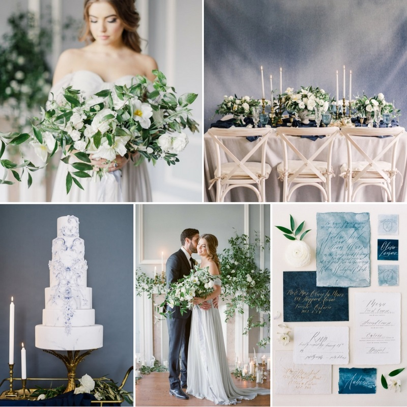 'Modern Renaissance' - Heavenly Modern-Vintage Wedding Inspiration in Serenity Blue