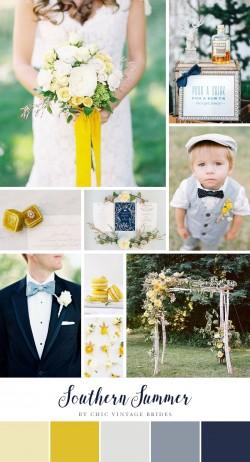 Southern Summer Wedding Inspiration Board
