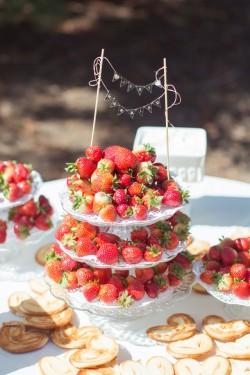 Strawberry Tower - Alternative Wedding Cake