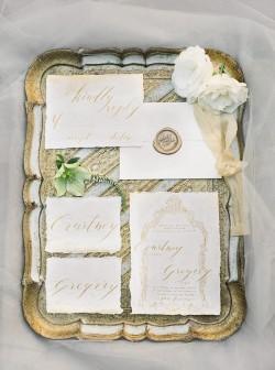 Elegant Vintage Wedding Stationery // Photography ~ Lara Lam