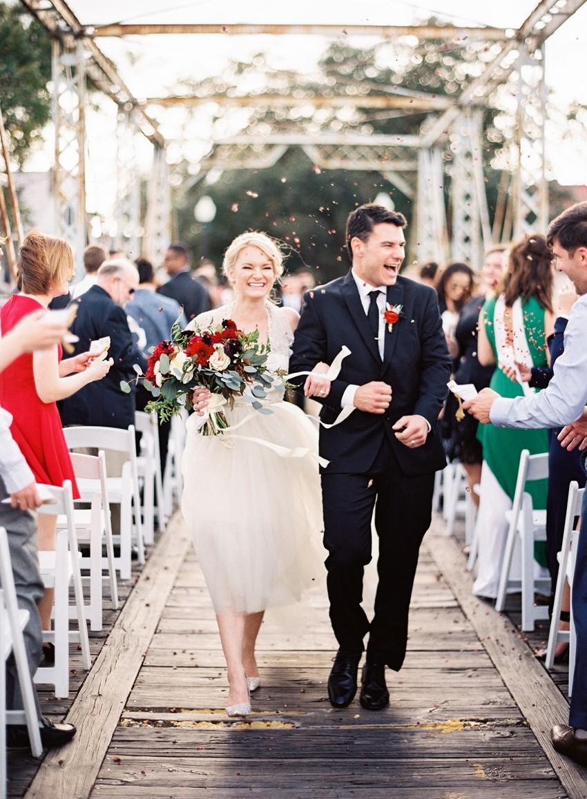 Bridge Wedding Ceremony in New Orleans // Photography ~ Marissa Lambert Photography
