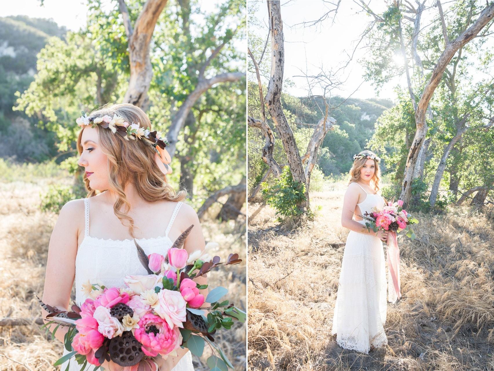 Pink Boho Vintage Bride