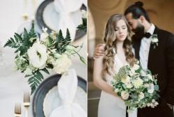 Elegant Black & White Wedding Flowers // Photography ~ Lara Lam