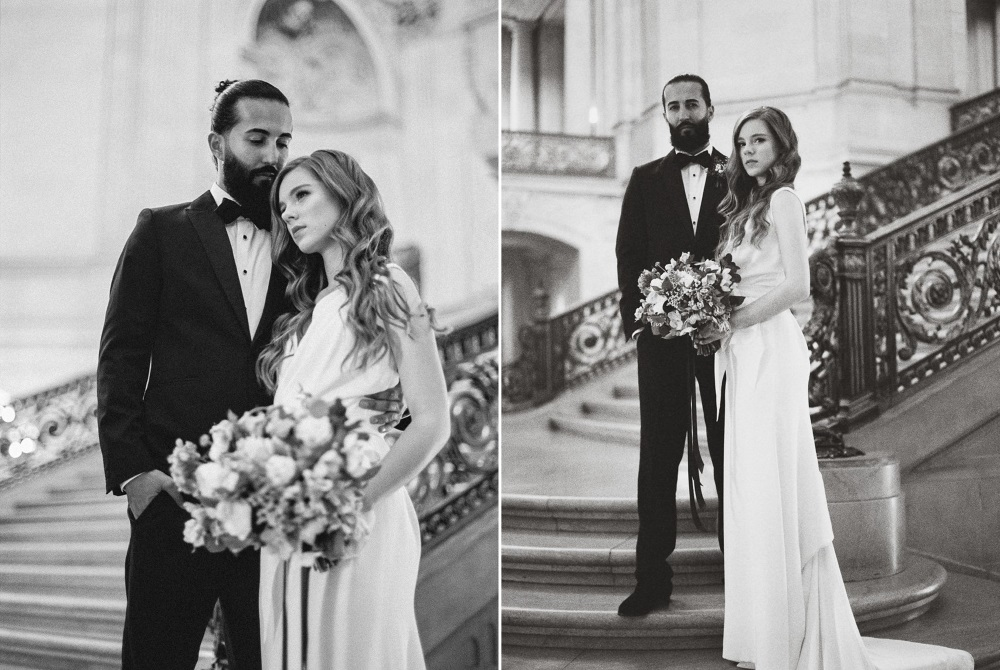 San Francisco City Hall Elopement Portraits // Photography ~ Lara Lam