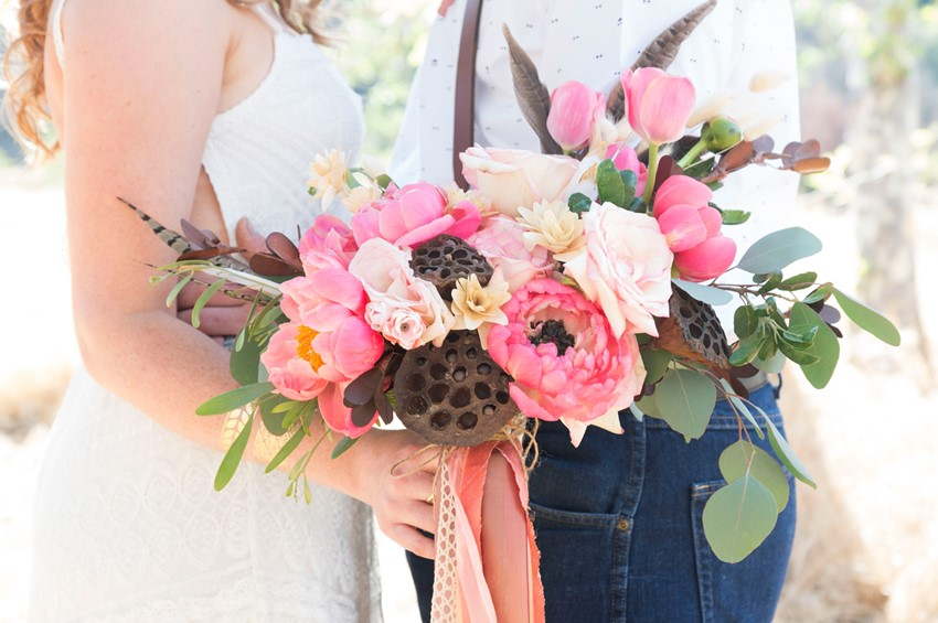 A Romantic Pink Wedding Anniversary Bouquet