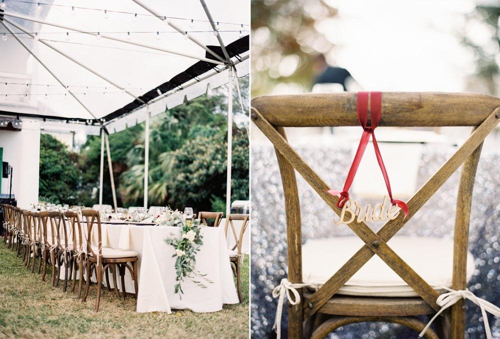 Wedding Chair Decor // Photography ~ Marissa Lambert Photography