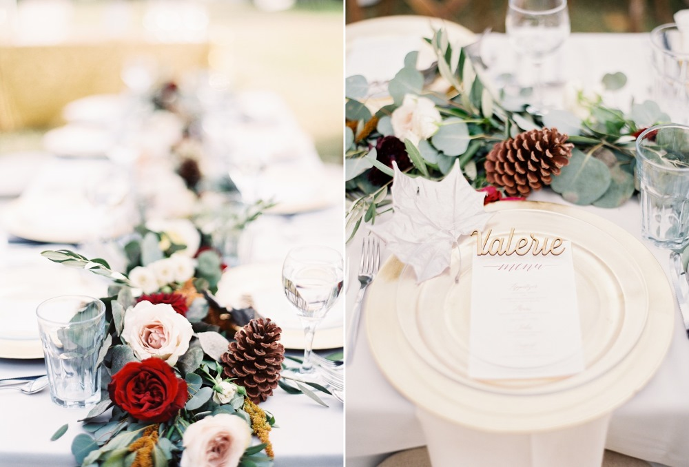 Romantic Winter Wedding Place Setting // Photography ~ Marissa Lambert Photography