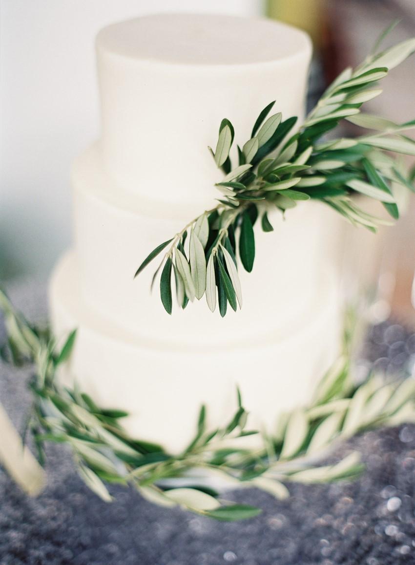 Simple White Wedding Cake // Photography ~ Marissa Lambert Photography