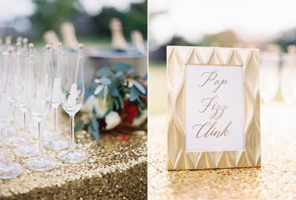Pop, Fizz Clink Wedding Signage // Photography ~ Marissa Lambert Photography