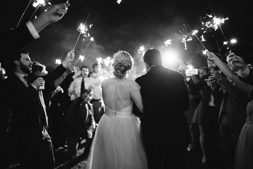 Sparkler Wedding Exit // Photography ~ Marissa Lambert Photography