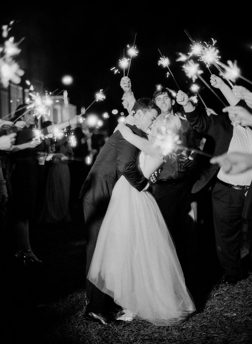 Sparkler Wedding Getaway // Photography ~ Marissa Lambert Photography