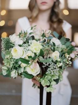 Beautiful City Hall Elopement Bridal Bouquet // Photography ~ Lara Lam
