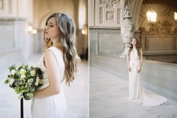 Beautiful City Hall Elopement Wedding Dress // Photography ~ Lara Lam
