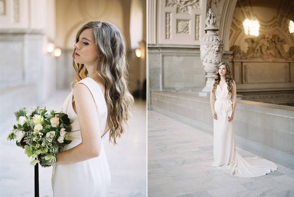Beautiful City Hall Elopement Wedding Dress