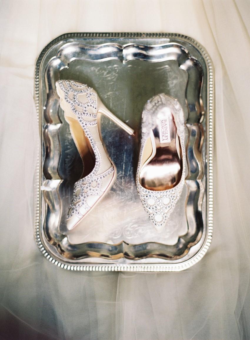 Elegant Sparkly Bridal Shoes // Photography ~ Marissa Lambert Photography