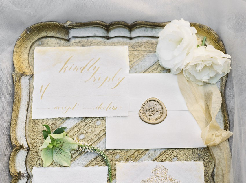 Elegant Vintage Wedding Stationery // Photography ~ Lara Lam