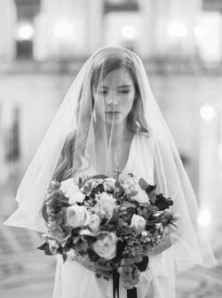 Chic City Hall Elopement Bride // Photography ~ Lara Lam