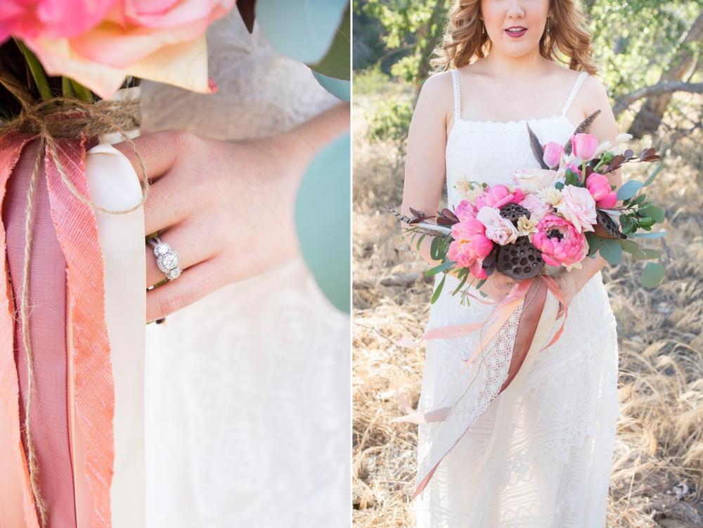 A Boho Bridal Bouquet