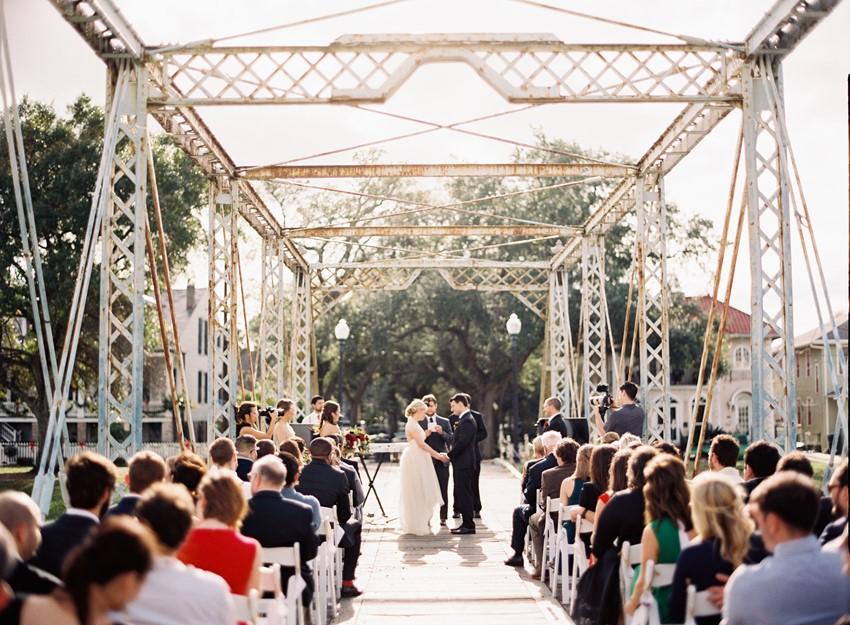 Bridge Wedding Ceremony // Photography ~ Marissa Lambert Photography